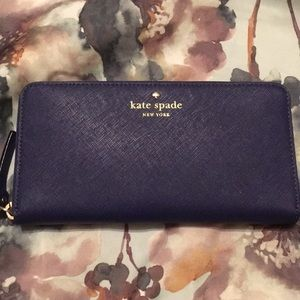 🆕 NWT Kate Spade lacey wallet in sapphire